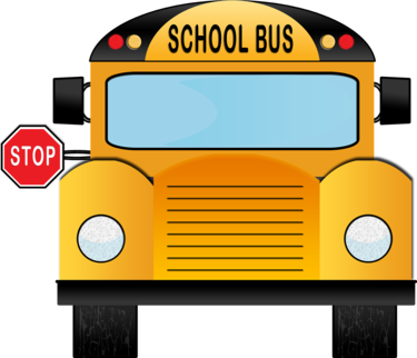 clipart of front view of school bus